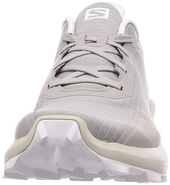 Salomon Alphacross, Zapatillas de Trail Running Hombre, Gris Lead White India Ink, 40 2/3 EU: Amazon.es: Zapatos y complementos