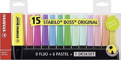 Marcador STABILO BOSS Original - Set de mesa con 9 colores ...