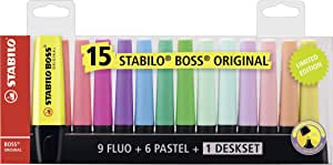 Marcador STABILO BOSS Original - Set de mesa con 9 colores ...
