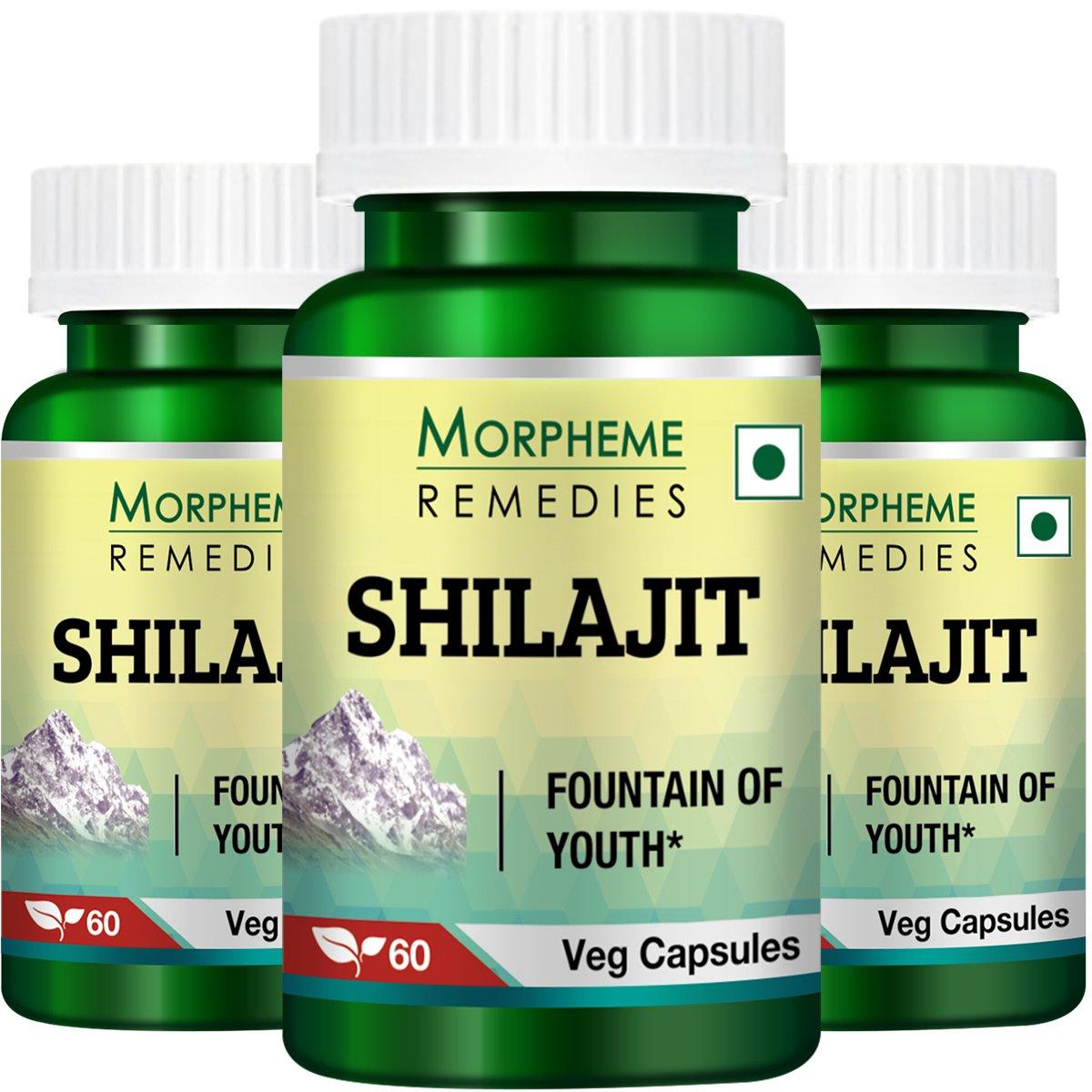 Morpheme Shilajit 500mg Extract 60 Veg Caps - 3 Bottles