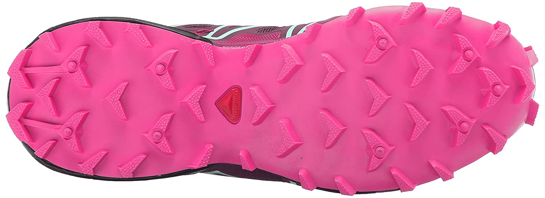 Salomon Women's Speedcross 3 Trail Running Shoe B00PRO6KL2 11 B(M) US|Bordeaux/Hot Pink/Lotus Pink