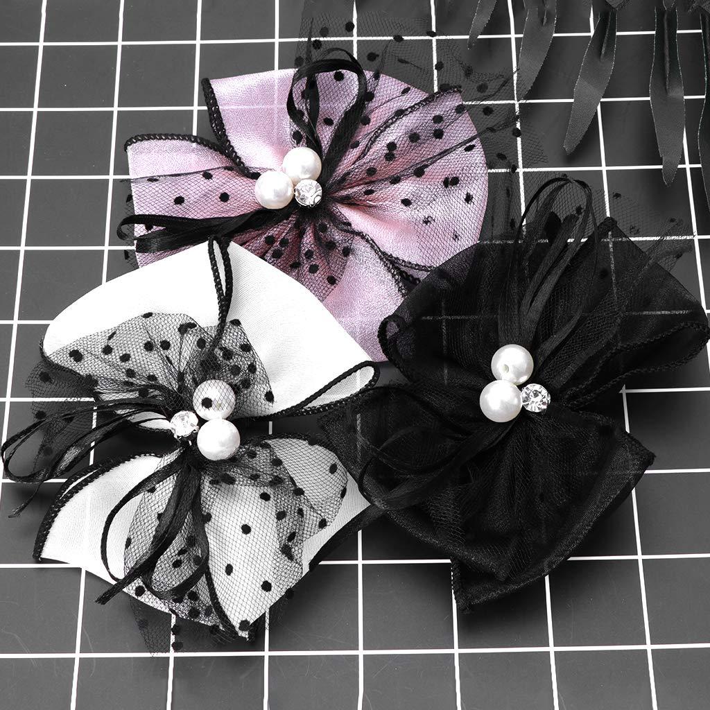 A0127 2pcs Schuh Dekoration Kleidung DIY Bowknot Ornamente Charms Floral Gaze Headwear
