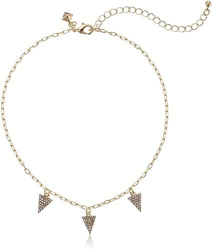 Rebecca Minkoff Pave Pyramid Necklace