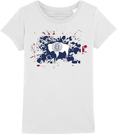 STUFF4 Filles//Col Rond T-Shirt//USA American Drapeau