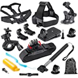 Mobile Gear Outdoor Sports Essentials 12 in 1 Accessories Bundle Kit for GoPro, SJCAM
