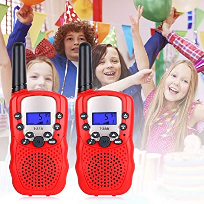 UEU Kids Walkie Talkie Boys Toys for 3-12 Years Old Boys and Girls Present for Christmas Suitable for Outdoors Indoor 1-3 km 22 Channel FRS Toy for Kids (Blue) (red): Car Electronics