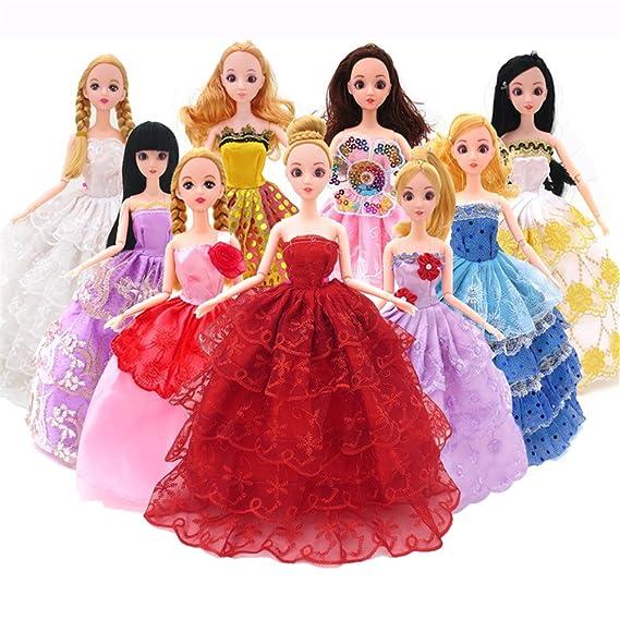 Amazon.es: Accesorios muñecas barbie, Accesorios de Vestir para las Muñecas, 14pcs Verano Faldas Vestidos +5 pcs vestido de novia +98 accesorio de Barbie: ...