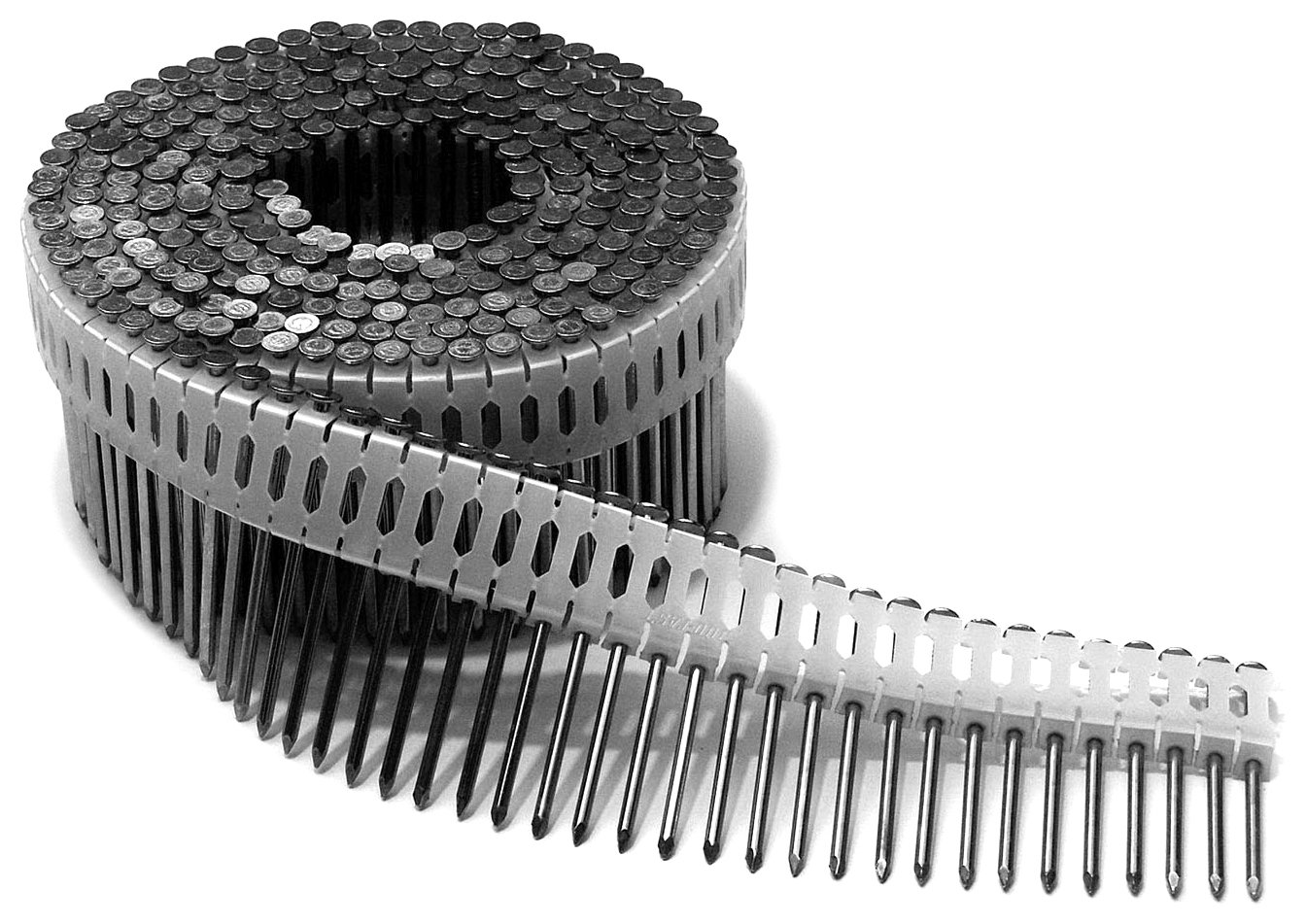 Duo Fast CS225HDG 2-1/4-Inch x .092 Ring Shank HDG 0 Degree Plastic Collated Coil Nails, 3600 Count Duo-Fast 650394