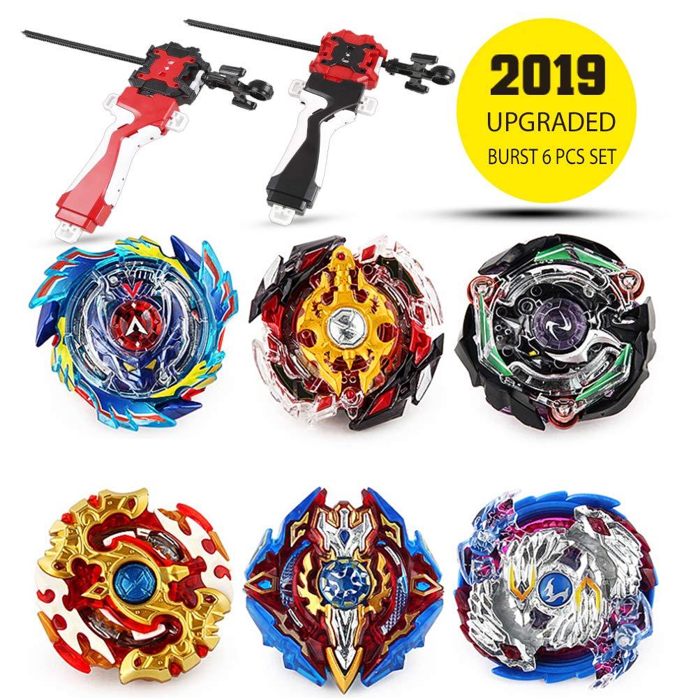Innoo Tech Bey Battling Top Burst | Burst Evolution Combination Series 4D | Set of 6 Fighter Gyroscope 4D Fusion Model | 2 Throwers Set with Launcher | Blade Best Gift for Children Kids Toys by Innoo Tech