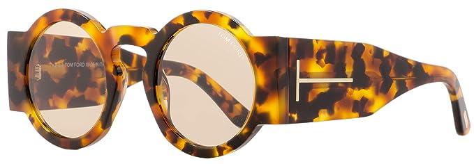 Amazon.com: Tom Ford Tatiana - Gafas de sol redondas FT0603 ...
