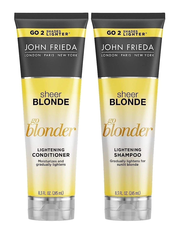 John Frieda Sheer Blonde Go Blonder Lightening Shampoo and Conditioner, New 8.3 Fluid Ounce