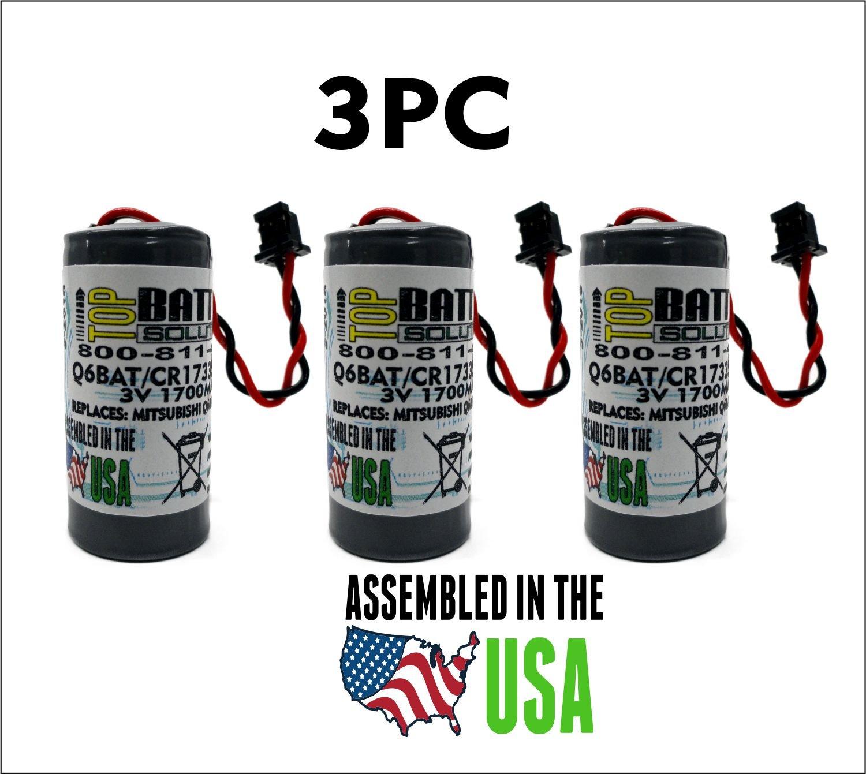 3pc Mitsubishi Q6BAT,CR17335SE-MC Battery 3.0V Lithium PLC