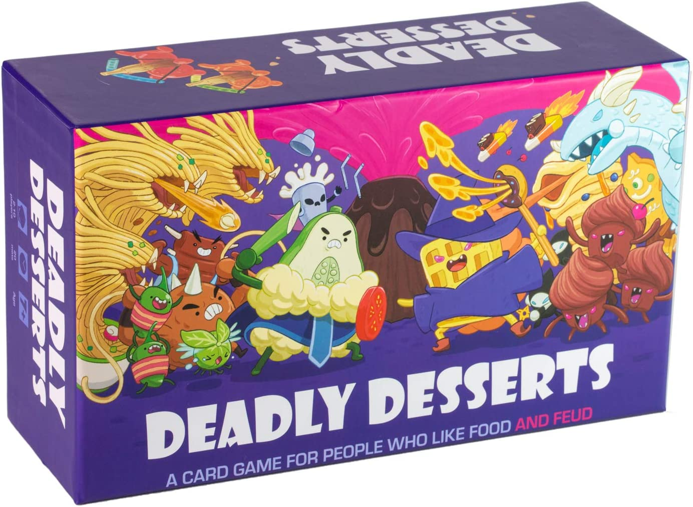 Deadly Desserts - A Family-Friendly Card Game for People Who Like Food and Feud - Board Games for Adults and Kids