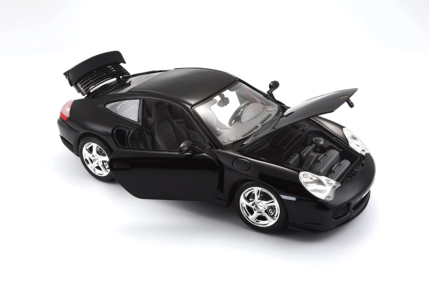 Bburago Porsche 911 Turbo Toy Car With Detailed Interior