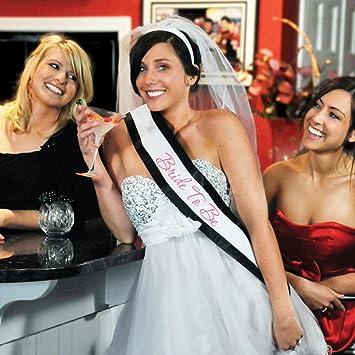 Bride To Be Bachelorette Sash And Veil Set