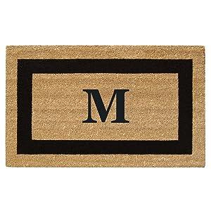 "Nedia Home Monogrammed M Superscraper Single Picture Frame, 20"" x 36"", Black"