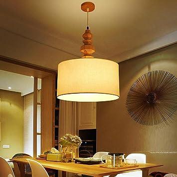 GRFH Lampe De Chevet En Plâtre En Bois Massif En Tissu Nordique Salon De  Chambre à