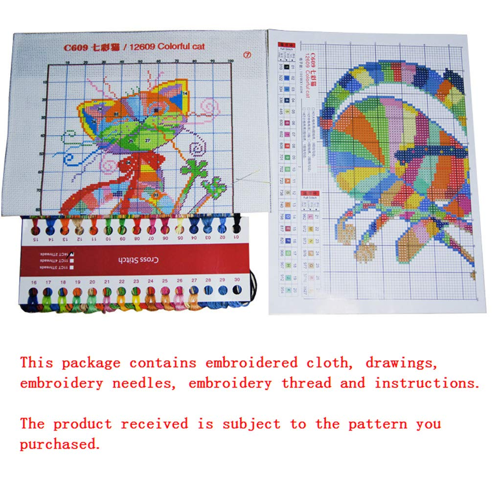 shyln Needlecrafts Counted Cross Stitch,Handmade Embroidery Starter Kit Set,Old Couple R776 4436CM
