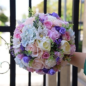 Hochzeitsblumen Brautjungfer Brautstrauss Rose Blumen Strass Perlen
