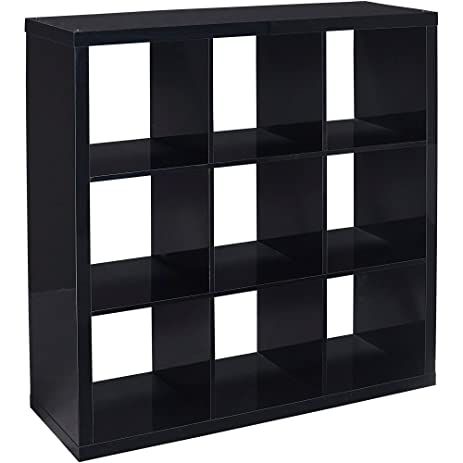 Better Homes And Gardens 9 Cube Organizer Storage Bookcase Bookshelf Cabinet Divider Black Lacquer