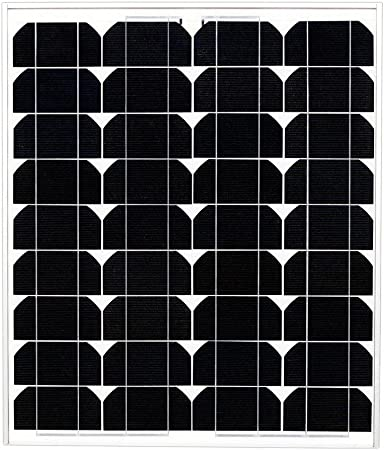 Amazon Com Ramsond 50 Watt Solar Panel 50w W Monocrystalline Photovoltaic Pv Solar Panel Module 12v Battery Charging Charger Rv 25 Year Garden Outdoor