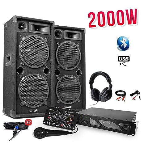 Pack DJ Sono 2000 W - 2 altavoces 2 x 10
