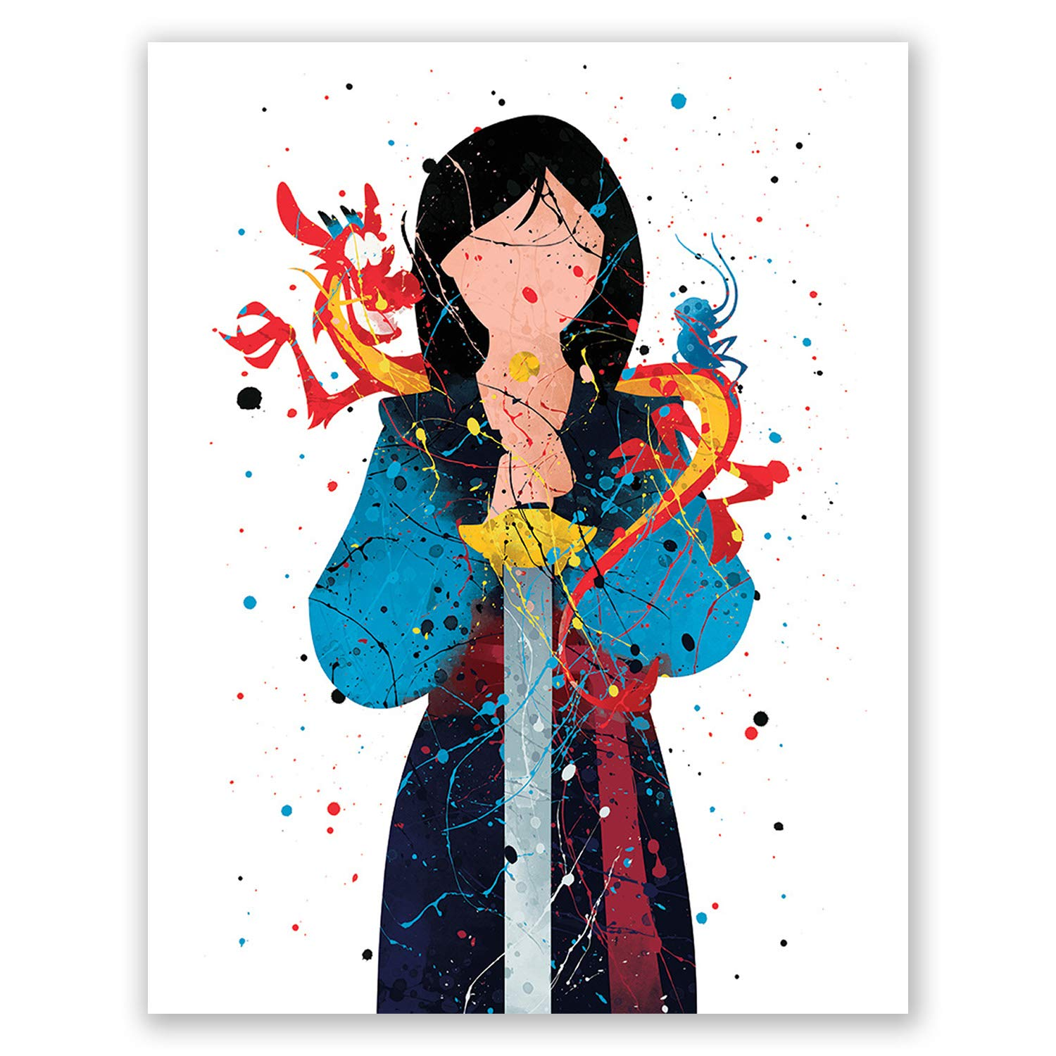 Mulan Poster Print – Princess Wall Art Girls Bedroom Decor – Birthday Party Decoration Idea –Nursery Theme Picture (8x10)