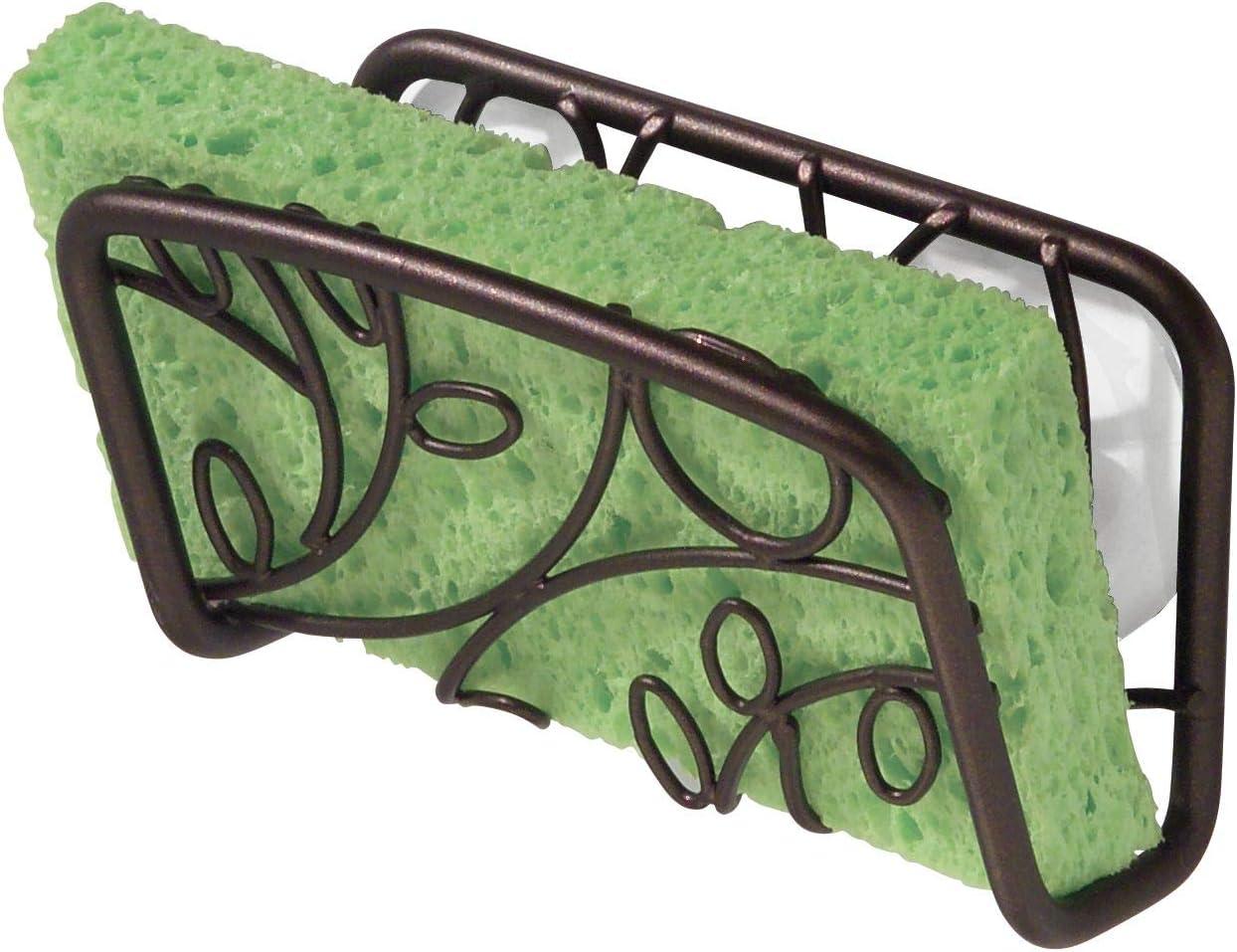 InterDesign Twigz Kitchen Sink Suction Holder for Sponges Bronze Scrubbers Soap