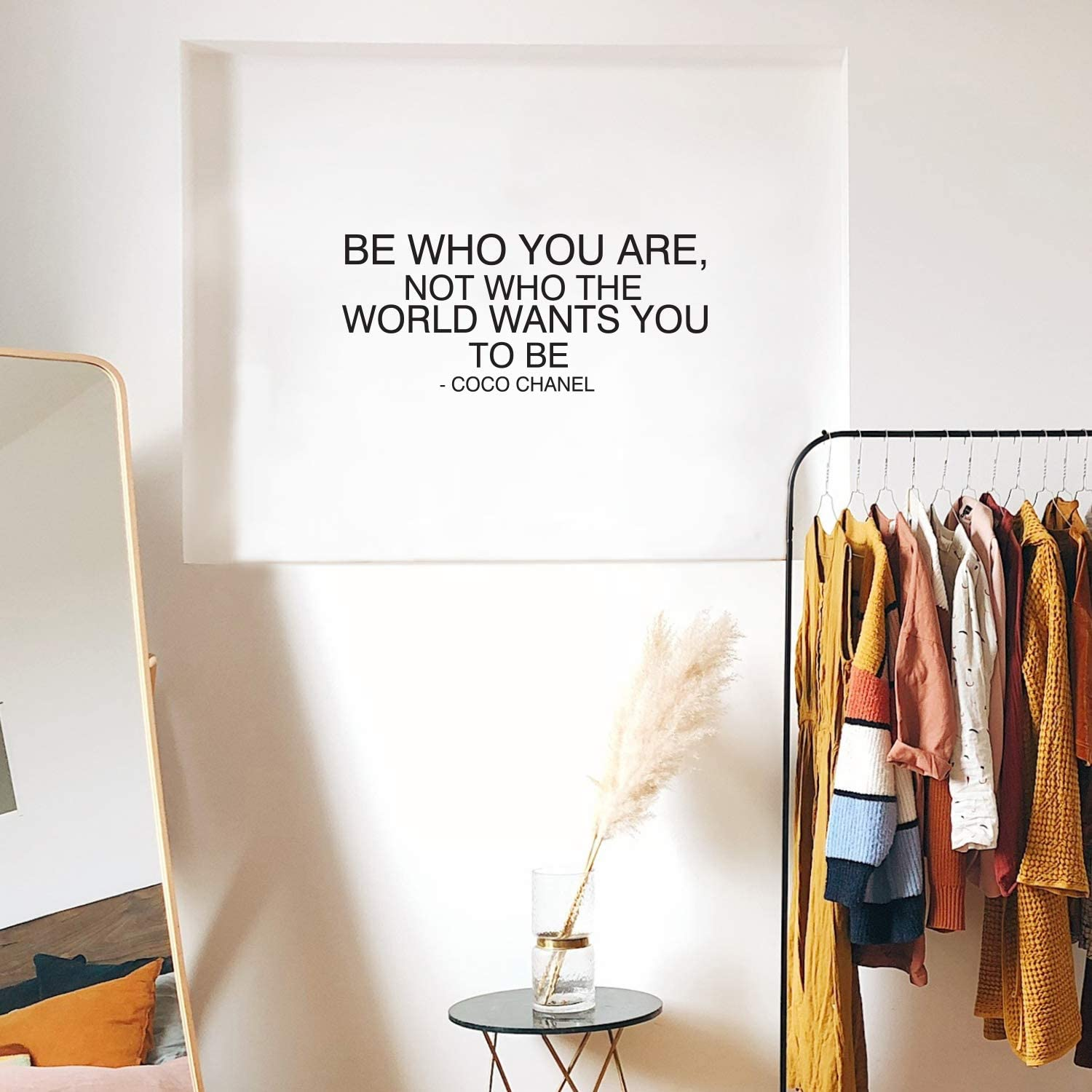 Amazon Com Vinyl Wall Art Decal Be Who You Are Not Who The World Wants You To Be 14 X 32 5 Trendy Inspirational Quote For Home Bedroom Living Room Office Work
