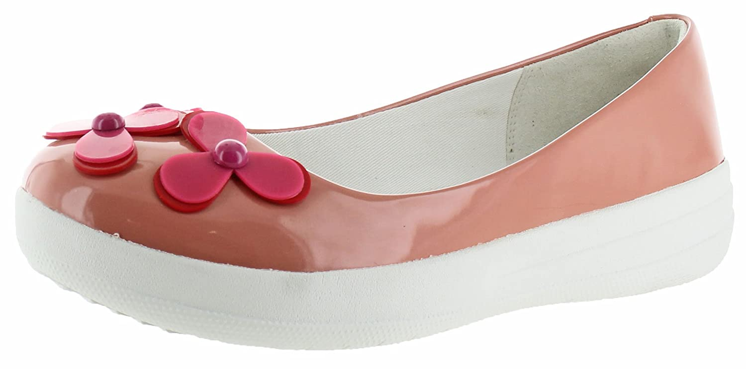 20c194d568c38a Fitflop Women s F-Sporty Flower Ballerina Patent Flats Pink Size  7 UK   Amazon.co.uk  Shoes   Bags
