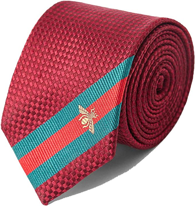 PyBle Classic uomini Legame di affari Cravatta di seta Tessuto ...