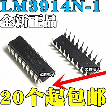 Free Shipping 5 x LM3914N LM3914 LED Bar Dot Display Driver IC USA Seller