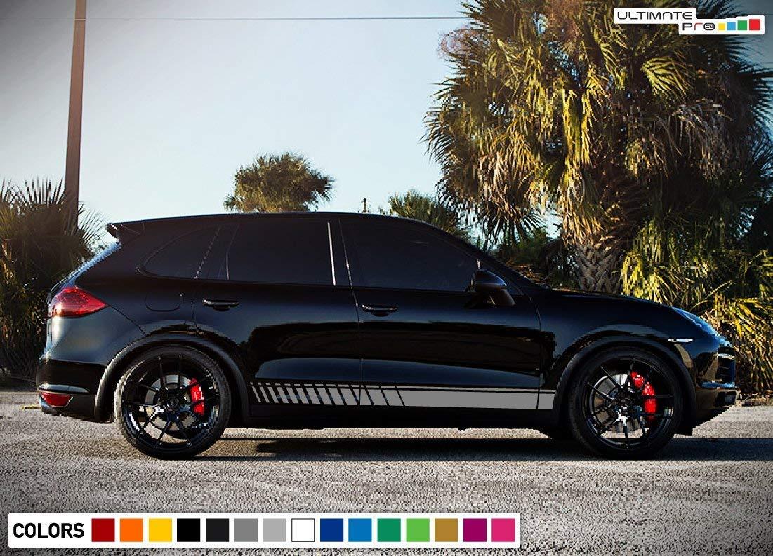 Amazon.com: Bubbles Designs Set of Lower Sport Stripes Decal Sticker Vinyl for Porsche Cayenne 2011-2017 (White): Automotive