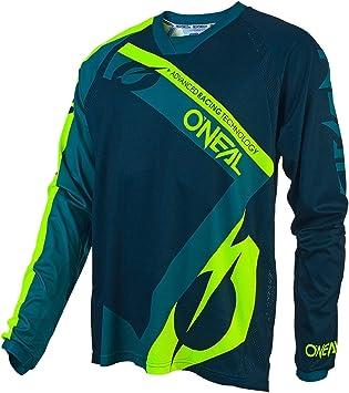 ONeal   Camisa de Motocross   Enduro de Motocicleta   Tejido Transpirable, Cuello Redondo Flexible y ventilado, Ajuste Flojo   Element FR Jersey ...