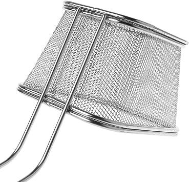 1 cesta de freidoras francesas de acero inoxidable cesta de comida r/ápida con soporte herramienta de cocina 03 cesta de malla para cocinar patatas fritas Biniwa