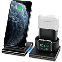 Seneo Wireless Charger, 3 in 1 Wireless Charging Station for Apple Watch, AirPods Pro/2, Detachable and Magnetic…