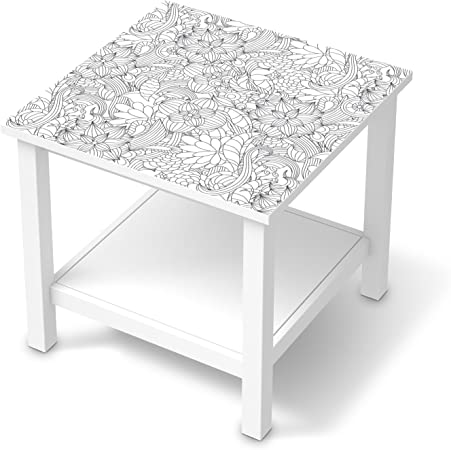 Furniture Decal For Ikea Hemnes Side Table 55 X 55 Cm Flower