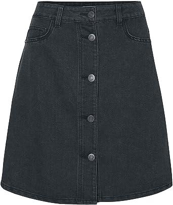 e6cacf3fc1fa86 Noisy May Sunny Short Skater Skirt Skirt Black: Amazon.co.uk: Clothing