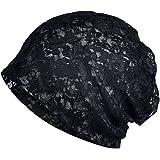 KISSTYLE 総レース 帽子 レディース 薄手 ニット帽 通気性 抗がん剤 医療用帽子 ワッチ