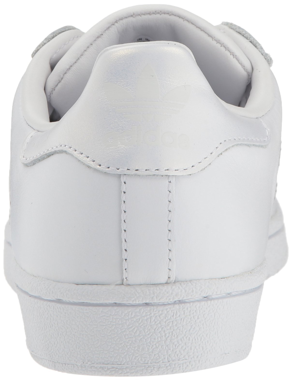 adidas Originals Women's Superstar Sneaker, White/White/Gray, 10