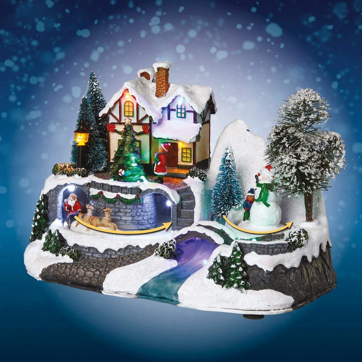FEERIC CHRISTMAS - Village Lumineux avec père noël + patinoire Maison à Piles