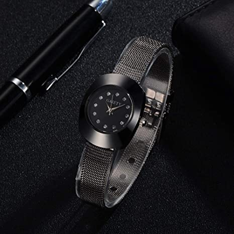 Relojes Hombre Deportivos Polar, Gaiety Moda Cuarzo de Lujo Acero Inoxidable Mesh Belt Wrist Reloj