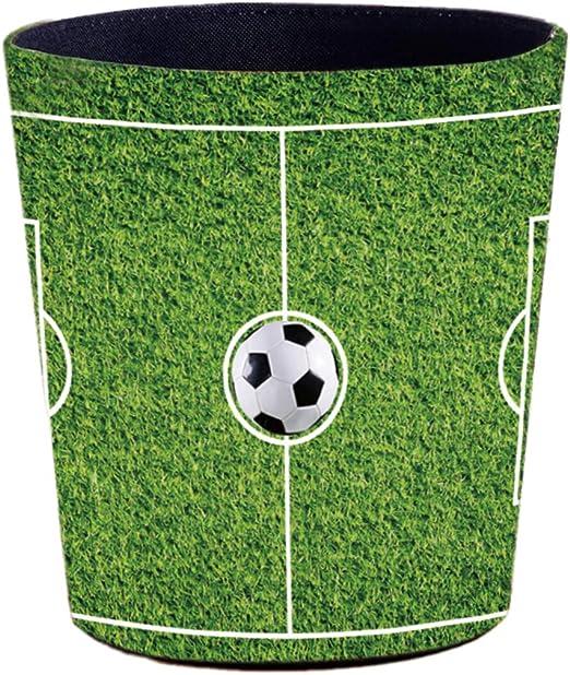 alles-meine.de GmbH Papierkorb // Beh/älter Jungen .. Aufbewahrungsbox f/ür Kinder // B/üro 10 Liter Fu/ßball // Sport aus Kunststoff M/ülleimer // Eimer Ball Name inkl