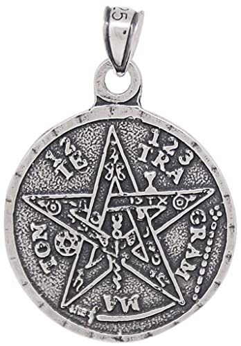 Amazon ejewelryplus sterling silver tetragrammaton pentagram ejewelryplus sterling silver tetragrammaton pentagram pendant medallion oxidized mozeypictures Gallery