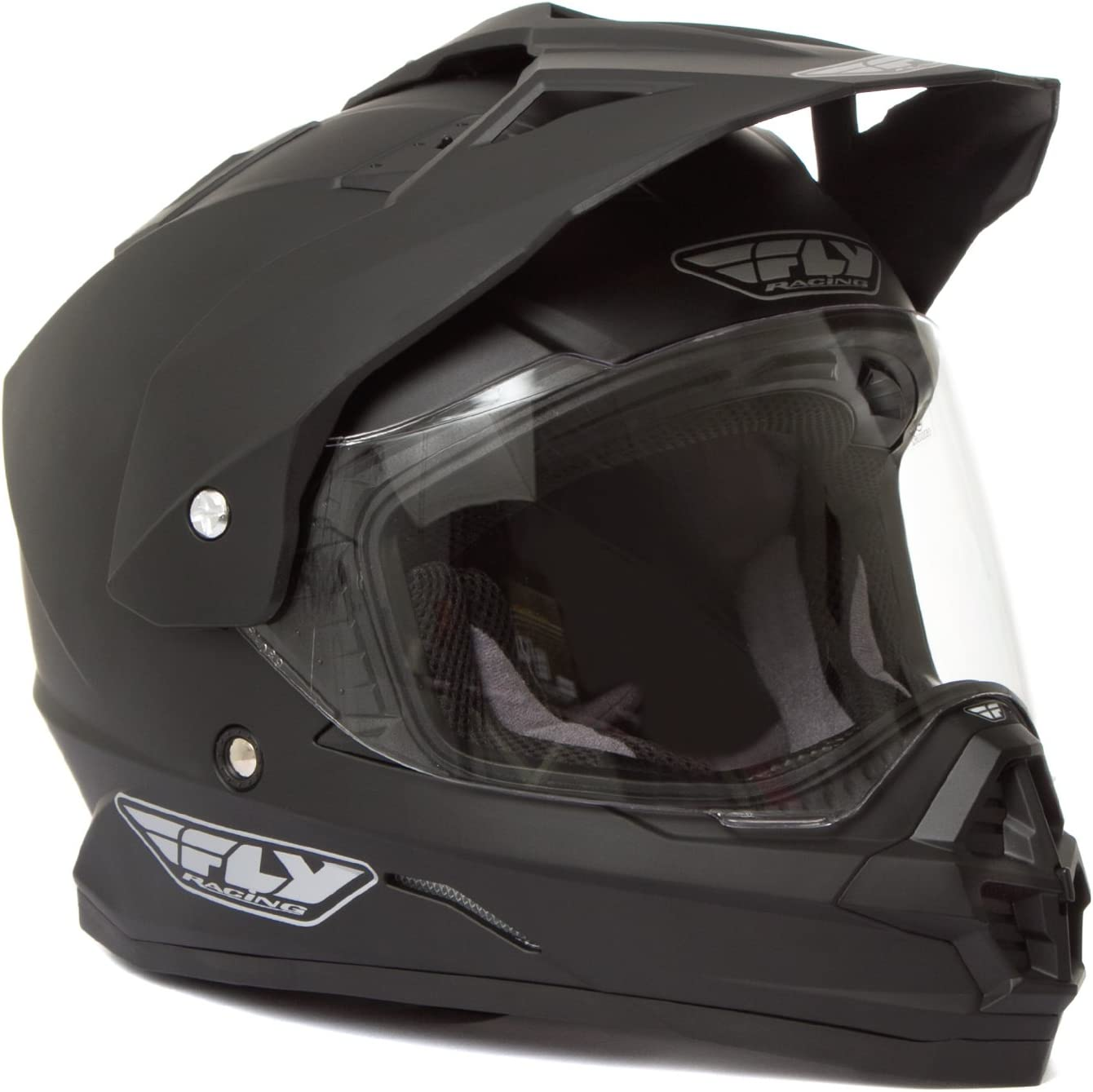Fly Racing Trekker – Casco, color negro mate – grande