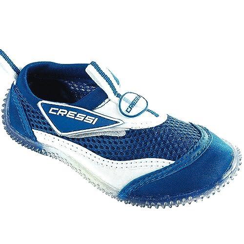 Cressi - Zapatillas para el agua para niño BLEU/BLANC 28: Amazon.es: Zapatos y complementos