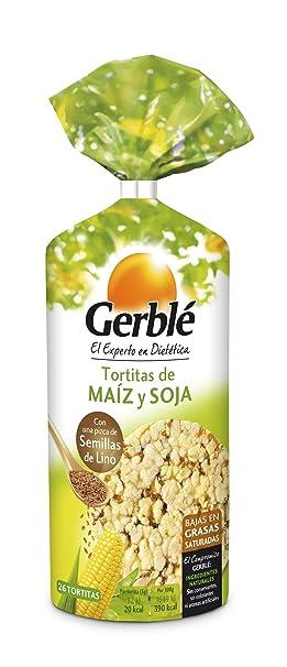 GERBLE tortitas de maíz y soja bolsa 122 gr