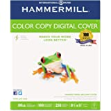 Hammermill Premium Color Copy Cover 80lb Cardstock, 8.5 x 11, 1 Pack, 250 Sheets, Made in USA, Sourced From American…