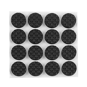 Sourcingmap® 16 Stück 18mm Runde Anti Rutsch Stuhl Tisch Sofa Möbel Pads  Fußboden Schutz