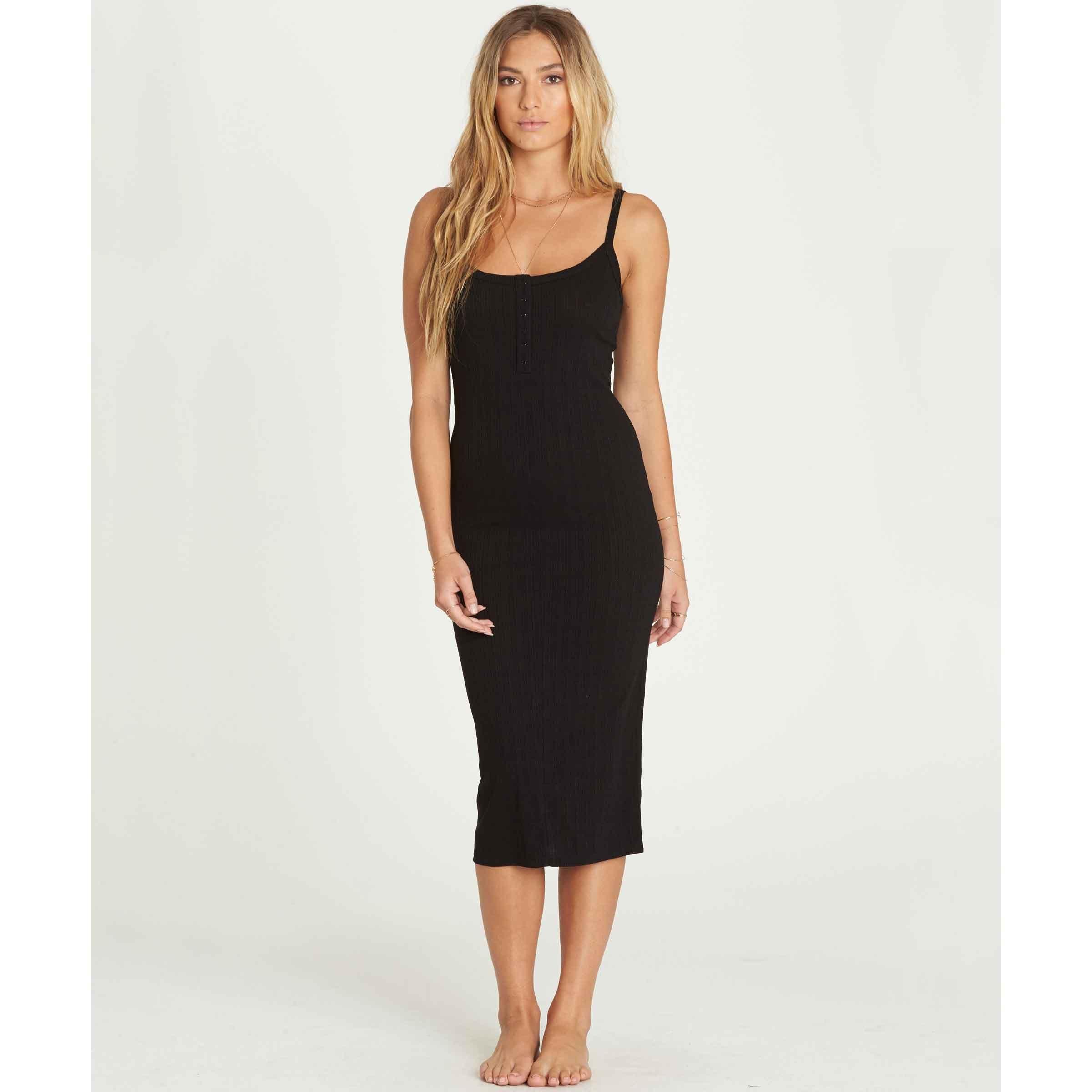 Billabong Women's Summer Fling Dress, Black, XS